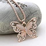 Kitchen & Housewares : LnLyin Rose Gold Sweater Chain Butterfly Necklace Female Long Jewelry