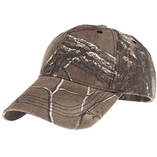 VRTUR Jagdkappe Herren Damen Texture Spezielles Muster Schick für Freizeit und Sport Kappe Baseball Caps Camo Basecap Army Cap Khaki