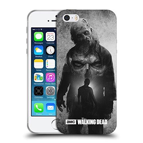 Officiel AMC The Walking Dead Marcheur Exposition Double Étui Coque en Gel molle pour Apple iPhone 5 / 5s / SE, Coques iphone