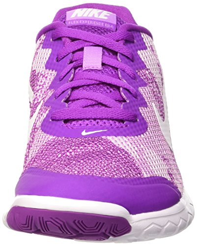 Nike Wmns Flex Experience Rn 4 Prem, Scarpe sportive, Donna Vivid Purple/White-Fuchsia Glow-White