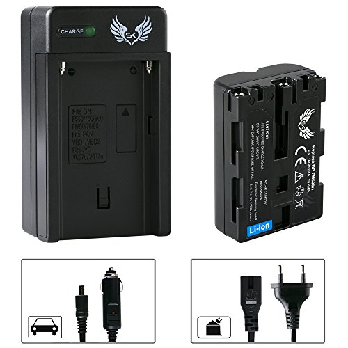 SK Akku Sony NP-FM500H 1400mAh + Ladegerät Charger NP-FM500 H für Sony NP-F550 NP-F750 NP-F950 NP-F990 NP-FM50 und weitere Np-fm50-lithium-batterie