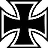 Car Motorcycle Sticker Iron Cross Iron Cross 10cm Military Symbol Award - Shirtfrog - amazon.co.uk