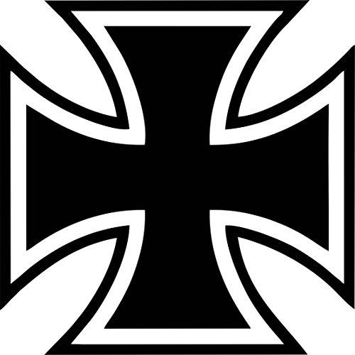Auto und Motorrad Aufkleber Iron Cross Eisernes Kreuz 10 cm Militärzeichen Auszeichnung (Iron Cross Decal)