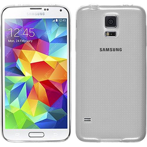 Funda de silicona para Samsung Galaxy S5 mini - Slimcase transparente - Cover PhoneNatic Cubierta + protector de pantalla