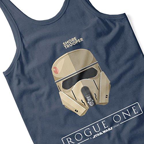 Star Wars Shore Trooper Rogue One Women's Vest Navy Blue