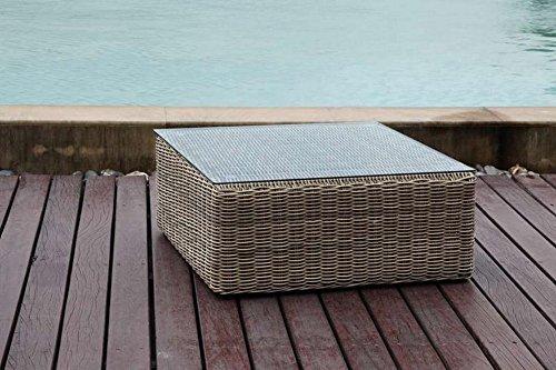 Au jardin de chloé - Table basse de jardin résine tressée ronde Prestige - TABLE BASSE LIBERTY - Osier naturel
