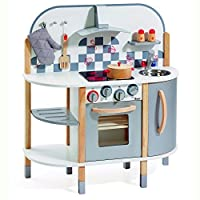 howa wooden toy kitchen / play kitchen with five part accessory set 4818