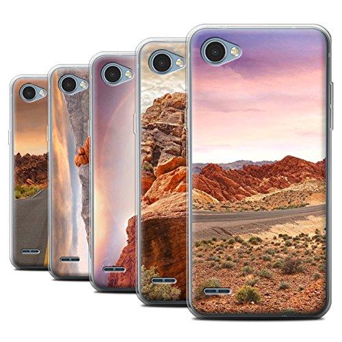 Stuff4 Gel TPU Hülle / Case für LG Q6/M700 / Pack 6pcs / Bundesstaat Nevada Kollektion
