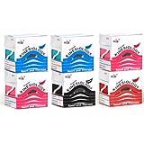 6er Sparpack ORIGINAL NASARA Kinesiologisches Physio-Sport-Tape - Tape für Sport und Medizin in 10 tollen Farben! Markenqualität von Nasara - 5cm x 5m