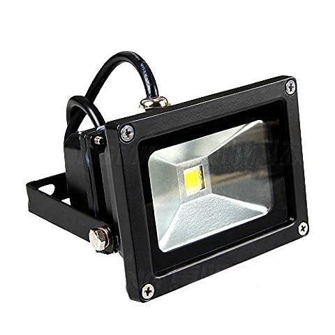 GlW ® Super brillante 10 LED Projecteur Extérieur Lumineux Ampoule HPS équivalent 50 W Blanc lumière du jour projecteur de lumières,-Classe énergétique A)