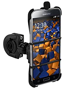 mumbi TwoSave Fahrradhalter Samsung Galaxy S5 / S5 Neo Motorrad und Fahrrad Halterung doppelt gesichert / Hoch + Querformat + Sicherheitsband