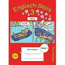 Englisch-Stars - TING-Ausgabe: 3. Schuljahr - Übungsheft Comics: Mit Lösungen
