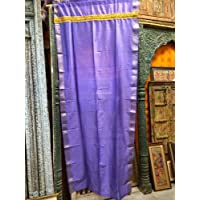 Mogul Interior India Sari Curtains Blue Saree Drapes Panels Window Treatment