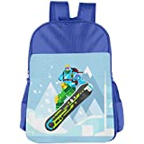 Lovely Ski Cartoon Man Bucket Bag Childrens Reusable Lunch Bags