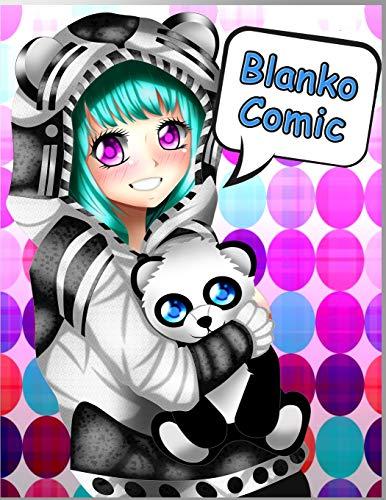 BLANKO COMIC: XL Comic Heft für Kinder, Manga- und Comic-Fans: Über 150 Seiten mit abwechslungsreichen Action Templates für verschiedene Comic-Stile zum Selbstgestalten | Anime Girl