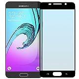 NEVEQ Samsung Galaxy A5 2016 (Black) Panzerglas, Schutzfolie aus Hochwertigem gehärtetem Glas für Samsung Galaxy A5 (2016) Full Screen Black (5.2 in) Zoll-Display, 9H-Härte Displayfolie.