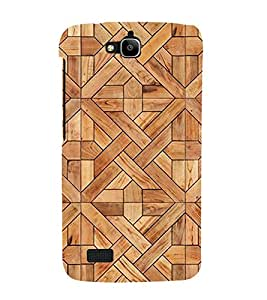 printtech Wooden Designer Abstract Back Case Cover for Honor Holly