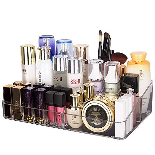 Organisateur de Maquillage, Organisateurs Cosmétiques Grande Boîte de Présentoir de Parfums pour Bijoux, Pinceaux, Rouges À Lèvres Et Crèmes