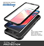 SUPCASE OnePlus 6T Case, with Built-In Screen Protector& Rotating Belt Clip Holster Full-body Rugged Kickstand Holster Case for 1+ 6T 2018 Release - Unicorn Beetle PRO Series - Retail Package (Black)