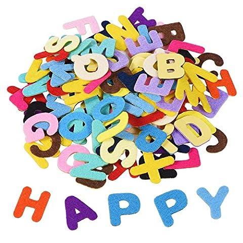 Shappy 1 Pouce Lettres de l'Alphabet Feutre Adhésif Autocollant de Lettre pour les Ornements de Bricolage Artisanat, Couleurs Assorties, 500 Pièces