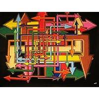 Pittura moderna : Multi direzione (51 x 70,5 cm)