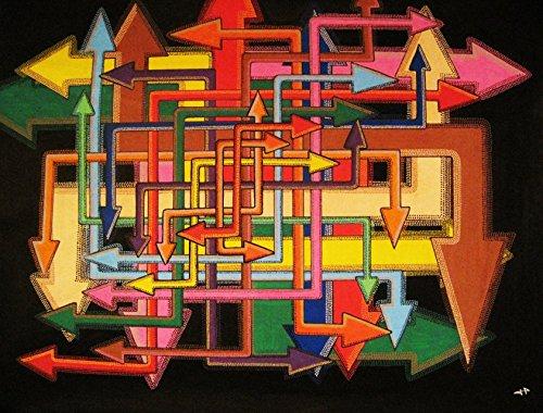 Multi-richtung (Moderne malerei : Multi-Richtung (51 x 70,5 cm))