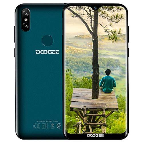 """DOOGEE Y8 3GB +32GB Günstige Handy ohne Vertrag 4G, 2019 Smartphone MT6739, Android 9,0 Mobile, 6,1\"""" Zoll Wassertropfen, Dual Nano SIM 5MP+8MP Face ID Fingerabdruck, Billige Senioren Telephone grün"""