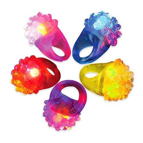 Novelty Place? [Party Stars] Flashing LED Bumpy Jelly Ring Light-Up Toys by Novelty Place