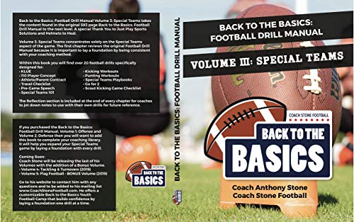 Back to the Basics: Football Drill Manual Volume 3: Special Teams (English Edition)