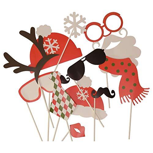 trendaffe Weihnachten Photo Booth - Christmas Foto Verkleidung Foto Requisite X-Mas