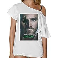 T-Shirt Donna Collo Barca Arrow Freccia Verde Serie Tv Locandina