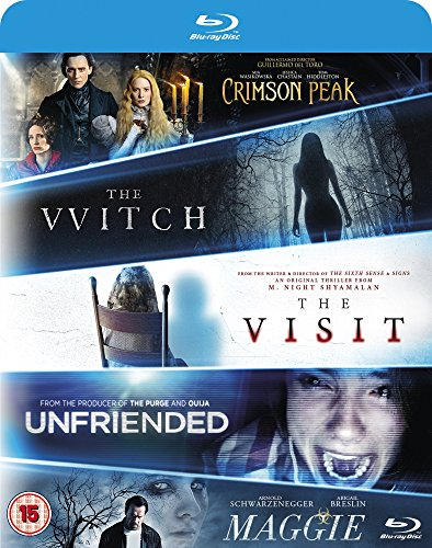 The Witch/Crimson Peak/Maggie/The Visit/Unfriended [Blu-ray] UK-Import, Sprache-Englisch