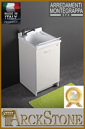 Mobile Korb (Mobile Waschbecken Montegrappa Edilla mit Korb L 109x B 60x H 89mit Abdeckung Waschmaschine Recht)