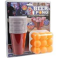 36-Stck-Bier-Pong-Ultimate-Turnier-Set-Becher-Blle-Erwachsene-Trinken-Spiel-set PMS 619028 36PC Beer Pong Set in Doppelblisterkarte, rot -