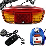 FUN n SHOP Bicycle Tail Light Turn Signal Warning Lights Electric Horn