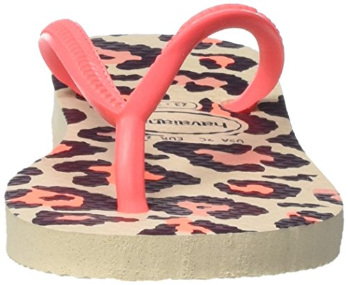Havaianas  slim animals sand grey, Tongs fille Multicolore (Beige/Coral New 9378)