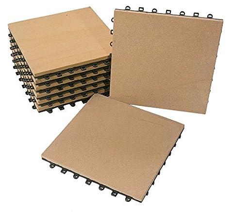 BodenMax® Sandstein Naturstein Click Bodenfliesen Set 30 x 30 cm Terrassenfliesen sand stone Terrassenplatte Stein Fliese beige Klickfliesen gelb (8 Stück)