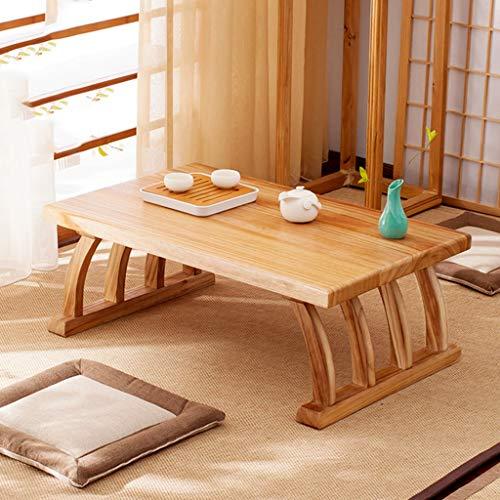 Mesa de centro Mesa De Tatami Pequeña Mesa De Té Japonesa Mesa De Madera Maciza Simple para El Hogar Zen Mesa De Ventana Mesa De Ventana Pequeña (Size : 60x40x30cm)