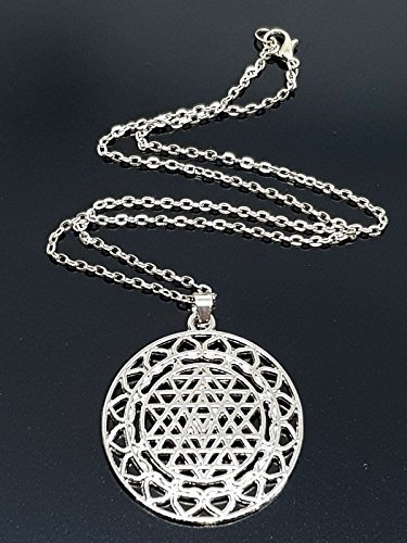 Chakra Sri Yantra Meditation Anhänger groß Halskette Yoga meditieren (Yantra-halskette)