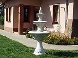 Großer Springbrunnen Etagenbrunnen Pinienzapfen mit Pumpe aus Steinguss, frostfest