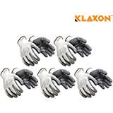 Klaxon Nylon Safety Hand Gloves (5 Pair)