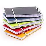 PracticOffice - Set von 5 A7 Vital Colors Notizblöcke mit elastischem Verschluss