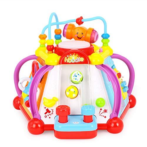 Cube-center (ZMH Baby Spielzeug Musikalische Aktivität Cube Play Center Spielzeug mit 15 Funktionen & Fähigkeiten Lernen Lernspielzeug für Kinder Geschenk)