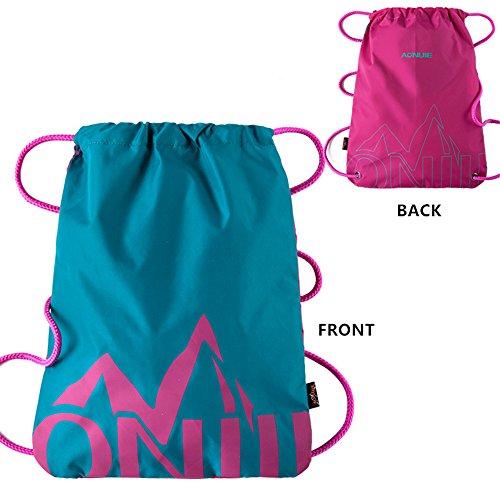 Imagen de aonijie   de cordones para niños impermeable, para la escuela o el gimnasio, para deporte, nadar, danza, zapatos , green&rose red
