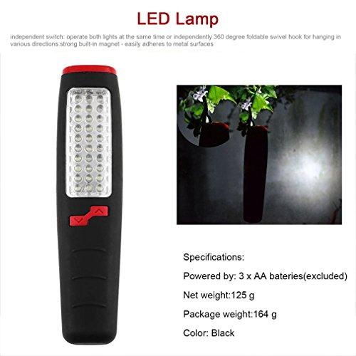 Linternas Lanterna Flash Light Lampe Torche Camping Outdoor Lamp Built-in Magnet Hook 37 Powerful LED Flashlight Torch Work