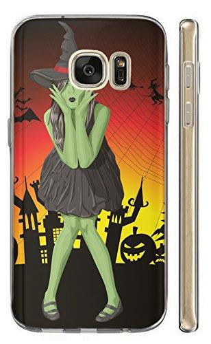 ni G800 Hülle Softcase TPU Hülle für Samsung Galaxy S5 Mini Cover Backkover Schutzhülle Slim Case (1611 grüne Hexe mit Hut Halloween) ()