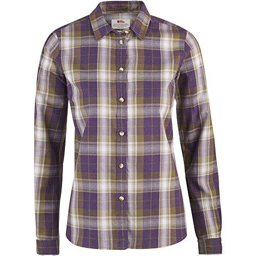 Fjällräven Damen Övik Flannel Shirt W Oberhemd Alpine Purple (590)