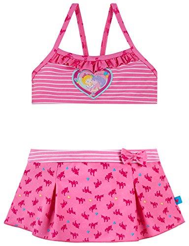 Schiesser Mädchen Badebekleidungsset Prinzessin Lillifee Bustier-Bikini, Rot (Rosé 506), 104