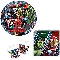 36 de Los Vengadores Multi de héroes de piezas de la fiesta de juego - protector de pantalla para 8 para niños con diseño de
