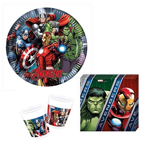 lti Heroes Party Deko Set - für 8 Kinder (Geburtstag Avengers)